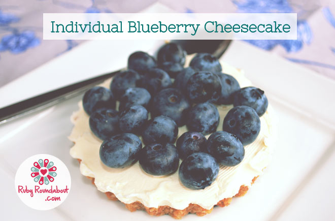 Individual Blueberry Cheesecakes Recipe — Dishmaps