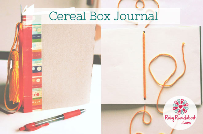 Cereal box journal ruby roundabout craft home craft cereal box journal ccuart