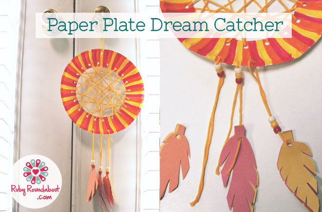 Craft · Home · Craft; Paper Plate Dream Catcher  sc 1 st  Ruby Roundabout & Paper Plate Dream Catcher | Ruby Roundabout